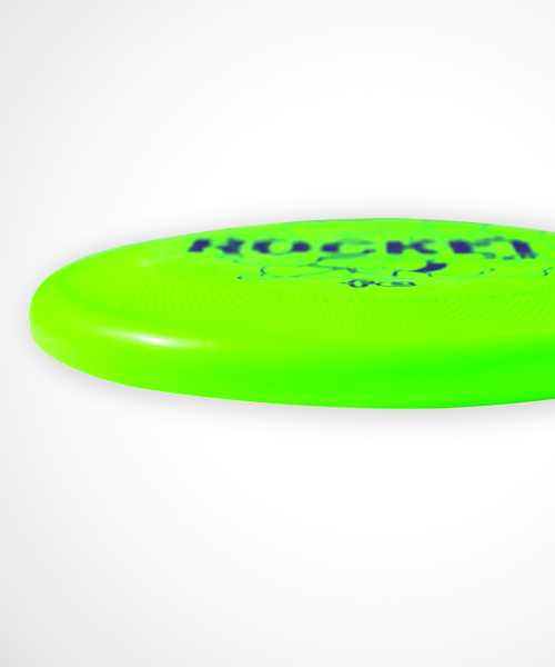 frisbee per cani rocket 2.0 verde profilo