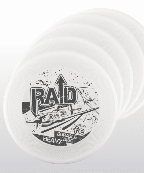 set-up 5 frisbee RAID FE bianco white hard bite disc resistenza generazione 3