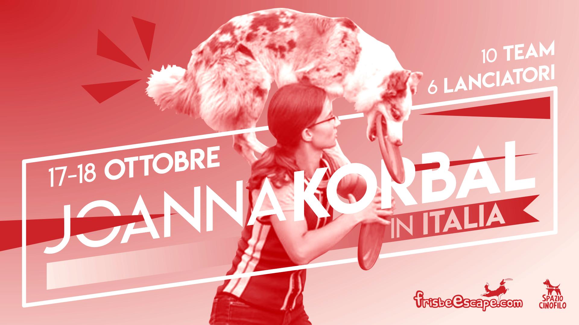 Joanna Korbal Disc Dog stage Italia