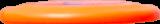 rocket firsbeescape disc dog orange fluo distance-min